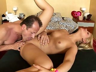 Hungarian blonde nympho Zorah White wishes to get all her holes nailed