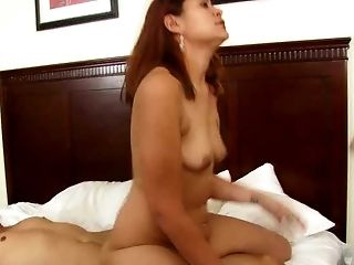 Kinky dude fucks red haired Thai slut in reverse and sideways styles tough