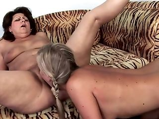 Gigi M licking and fingering her stepmother's pussy