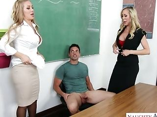 Seductive perverted teacher Brandi Love enjoys having sex with her students