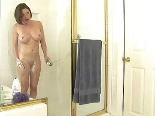Bathroom sex session with nasty brunette babe Krissy Lynn