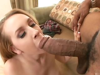 Horny blonde, Chrissy Cane, gets down with the big black cock of Shane
