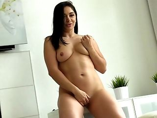 Smart cougar in high heels removing her attire displaying her hot ass