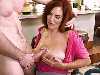 Insane fuck play with a busty mature
