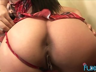 Victoria Sweet latina upskirt seduction with BBC ready to jizz over her face