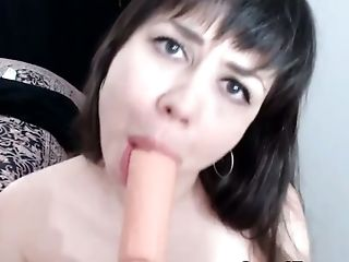 Beautiful Canadian Brunette Fucked Her Pussy Till It Gets Wet