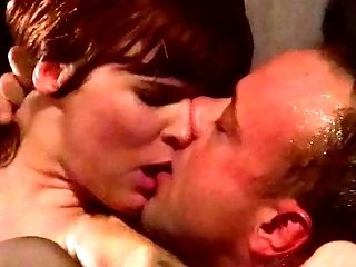 Wanton redhead slut in black stockings had hard core anal with her skilled stud in fancy room