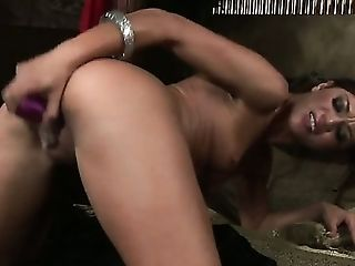 Alyssa Reece with tiny boobs and shaved cunt spends time stroking her cunt