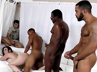 Sara Jay gets ganbanged by black dudes