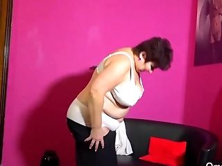 Mature BBW grannies striptease compilation