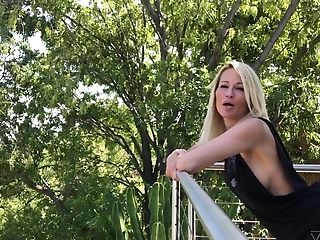 Flirty and talkative blonde lady Jessica Drake has nice body to check out