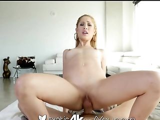 Exotic4K - Blonde latina Goldie takes a dick in her oiled pussy