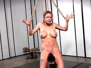 Busty girl is the black guy's prisoner and he intends to torture her!