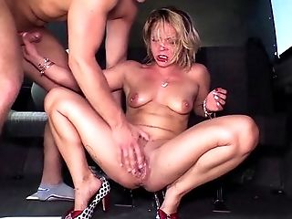 Bums Bus - Naughty hardcore bus sex with hot squirting German blondie