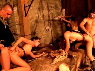 These girls enjoy every second of being drilled in an orgy!