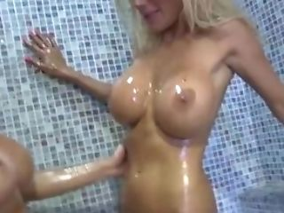 Euro Babe Puma Swede in Wet Shower with Bobbi Eden!