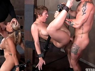 BDSM, Bondage, Dungeon, Fetish, Foursome, Hardcore, Submissive, Torture, Whore,