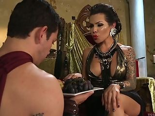 Transsexual queen of lust TS Foxxy is really into fucking dude's anus