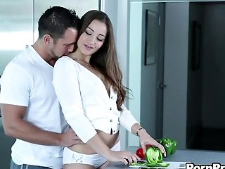 Her name is Dani Daniels and she looks awesome during the cock riding!