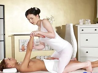 Best pornstars Daphne Angel, Morgan Rodriguez in Hottest Massage, Small Tits sex scene