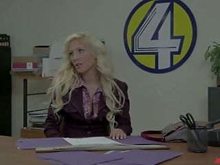 Naughty news presenter Aiden Starr loves acting naughty at work