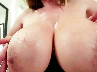 Asian mom Kianna Dior puts her oiled up monster tits