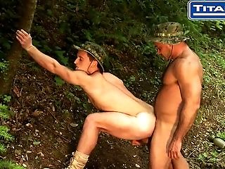 Naked Military Men Piss In Bondage