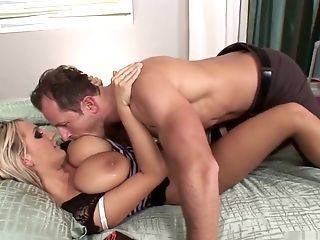 Exotic pornstar Wendy Wonders in incredible blonde, facial sex video