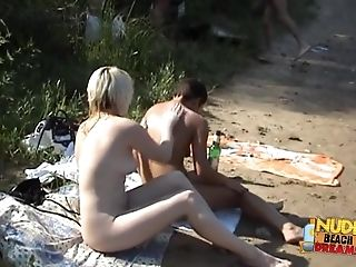 Exotic Amateur clip with Nudism, Beach scenes