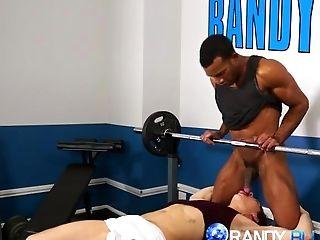 Black stud Jay Landford crushes on hot twink jock Justin Owen and fucks his hot ass