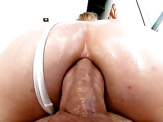 Blonde Lily Labeau gives mouthjob to hot fuck buddy