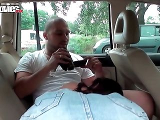 FunMovies German amateur fucked in public in a car
