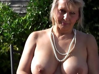 Amateur, Amazing, Big Natural Tits, British, Granny, Mature, Nature, Outdoor,